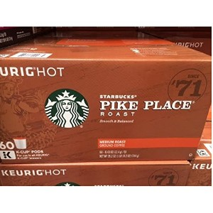 〈海外直送品〉KEURIG HOT Starbucks PIKE PLACE Roast MEDIUM Roast - 60k-Cup PODS キューリグ スターバックス