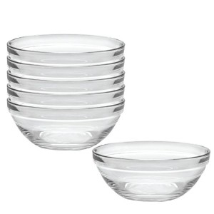 Duralex Made In France Lys 10-1/4-Inch Stackable Clear Bowl, Set of 6 by Duralex