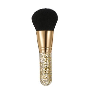 Soft Facial Cosmetic Blusher Brush with Plastic Handle Professional Foundation Powder Makeup
