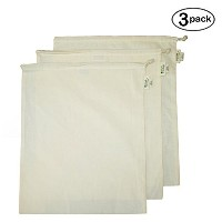 Simple Ecology Organic Cotton Muslin Produce Bag - X-Large by Simple Ecology