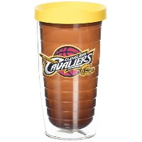 "Tervis 1059585 "" NBA Cleveland Cavaliers "" Tumbler withイエロー蓋、16オンス、トパーズ"