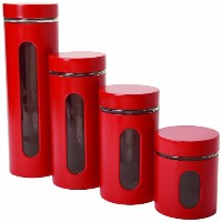 4 Pc Palladian Jars