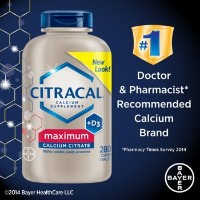 Bayer Citracal Calcium Citrate Plus D3 280錠 バイエルカルシウムプラスD3サプリメント ビタミン [並行輸入品]