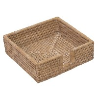 Entertaining with Caspari Rattan Luncheon Napkin Holder, Natural White, 1-Count by Entertaining...