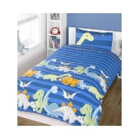 Dinosaurs Blue Duvet Cover Set, Single by Rapport