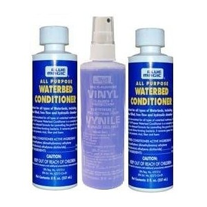 Two Blue Magic All Purpose Waterbed Conditioner with One 8oz Vinyl Cleaner by Blue Magic [並行輸入品]