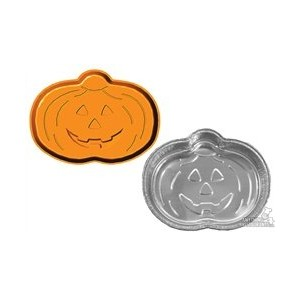80342r Handi FoilベイクAmerica Bake and Carry 2 Pumpkin Shaped Pans with Lids