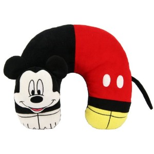 """Disney Mickey Mouse 3D Character Travel Pillow 11"""" X 12"""" by Disney [並行輸入品]"""
