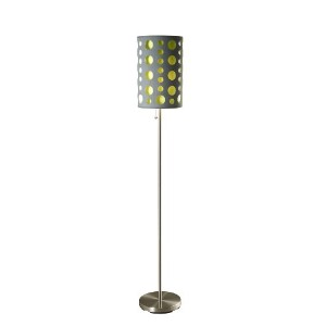 ORE International 9300F-GY-GN Modern Retro Floor Lamp, Grey/Green, 66 Inches by ORE