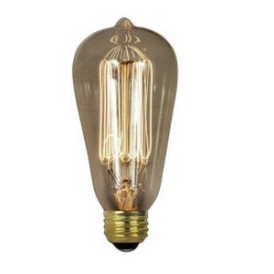 BULB VINTAGE 40W EDISON by FEIT MfrPartNo BP40ST19/RP by Feit