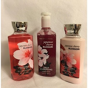 Japanese Cherry Blossom Lotion, Shower Gel and Deep Cleansing Hand Soap by Bath & Body Works
