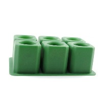 IC ICLOVER Silicone Ice Shot Glass Mold, 6 cups Square Green Ice Cube Tray,Jelly Tray ,Chocolate...