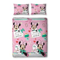 100% OFFICIAL CHARACTER DOUBLE DUVET QUILT COVER SET (Disney Minnie Mouse MakeOver)
