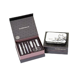 Nano BELL Manicure Sets BN-8177A ポータブル爪の管理セット ナノシルバー爪切りセット 高品質のネイルケアセット高級感のある東洋画のデザイン Portable Nail...