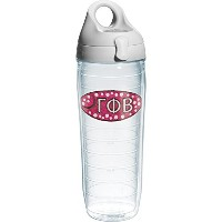 Tervis Gamma Phi Beta Sorority Water Bottle with Lid, 24 oz, Clear by Tervis