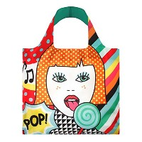 LOQI Pop Girl Reusable Shopping Bag, Multicolor by LOQI