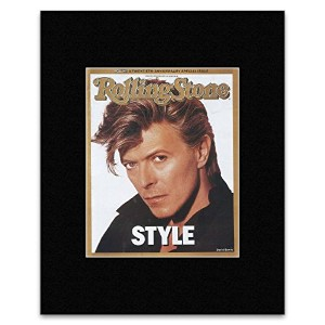 ROLLING STONE - David Bowie 1987 Matted Mini Poster - 19.3x15.9cm