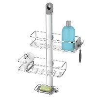 simplehuman Stainless Steel & Anodized Aluminum Adjustable Shower Caddy by simplehuman [並行輸入品]