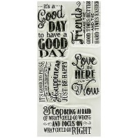 "My Favorite Things Clearly Sentimental 4""X6"" Sheet -Chalkboard Greetings (並行輸入品)"