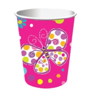 Butterfly Sparkle Party Cups