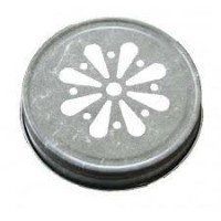 Pewter Daisy Jelly Lid for Mason Jars 24 Ct by Daisy Lids