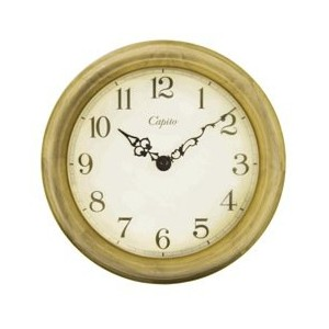 Antique Wooden Wall Clock /Natural Ivory