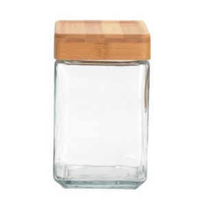 Anchor Hocking 1.5-Quart Stackable Jars with Bamboo Lids, Set of 4 by Anchor Hocking