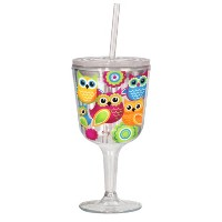 Spoontiques Owls Goblet, Multi Colored by Spoontiques