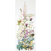 "Wild Flowers On Aida Counted Cross Stitch Kit-17-3/4""X43-1/4"" 16 Count (並行輸入品)"