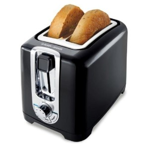 Black & Decker TR1256B 850-Watt 2-Slice Toaster with Bagel Function and Removable Crumb Tray, 220...