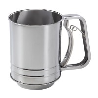 Baker's Secret 3-Cup Stainless Steel Flour Sifter by Baker's Secret