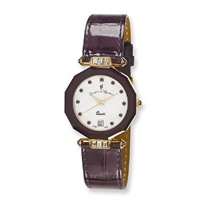Ladies Jacques Du ManoirパープルストラップCrystal Accent Watch