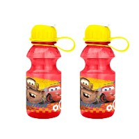 Zak! Designs Tritan Water Bottle with Flip-up Spout with Cars Graphics, Break-resistant and BPA...