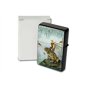 S. Fenech Pocket Vintage Windproof lighter ライター Brushed Oil Refillable Toad tab