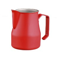 Motta 35cl Stainless Steel Professional Milk Pitcher, 11.8 Fluid Ounce, Red by Motta