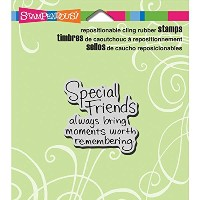 "Stampendous Cling Rubber Stamp 3.5""X4"" Sheet-Special Friends (並行輸入品)"