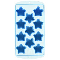 Fairly Odd Novelties Novelty Gag Gift Star Shape Flexible 11-Ice Cube Tray Mold, Rubber, Blue by...