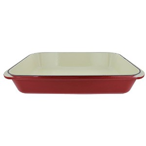 Chasseur 4.25-quartレッドFrench Enameled Cast Iron長方形ロースター