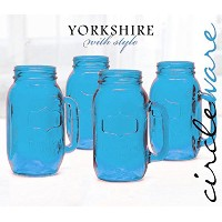 Blue Mason Jars 24 Oz Mugs by Circleware