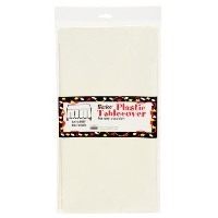 Bulk Buy: Darice DIY Crafts Plastic Table Cover Rectangle Ivory 54 x 108 inches (12-Pack) 1140-46...