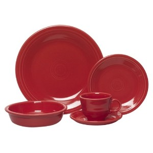 Fiesta 5-Piece Place Setting, Scarlet by Unknown
