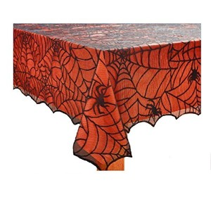 Halloween Lace Tablecloth with Vinyl Liner - 60 X 84 Oblong by Halloween Lace Tablecloth