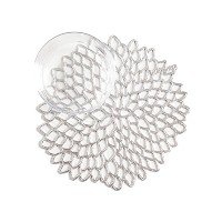 Chilewich Dahlia Coasters Set of Six, Silver by Chilewich