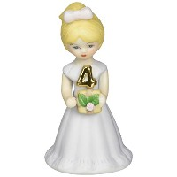 Growing up Girls from Enesco Blonde Age 4 Figurine 3.5 IN [並行輸入品]