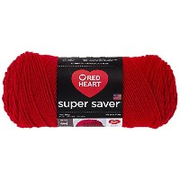 Coats Yarn RED HEART super saver 毛糸 極太 レッド 198g 約333m