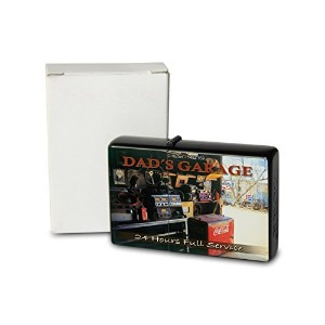 Pocket Windproof ライター Lighter Brushed Oil Refillable G. Huber Dad`s garage