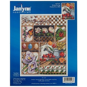 """Spring Montage Counted Cross Stitch Kit-11""""X14"""" 14 Count (並行輸入品)"""