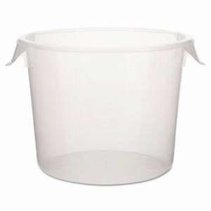 Rubbermaid Commercialラウンドストレージコンテナ、6Qt、10dia X 75/ 8h、クリア–Includes 1つ各。