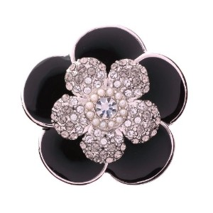 PiELY CAMELLIA SILVER-BLACK