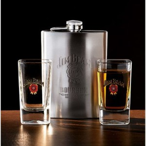 Luminarc Jim Beam 3 Piece Hip Flask Set by Luminarc